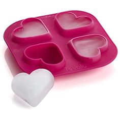 Crate & Barrel Heart Ice Cube Tray found on Polyvore featuring home, kitchen…