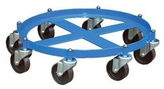 Vestil OCTO-55 Octo Drum Dolly with Cast Iron Casters, 2000 lbs Capacity by Vestil. $119.39. The Vestil OCTO-55 Octo drum dolly has a round steel frame, a blue powder-coated finish, and eight swivel caster wheels, and can be used to transport a 55-gallon drum that weighs up to 2,000 lb. The dolly is made of steel, which is stronger than aluminum and more resistant to fractures than cast iron. The blue powder-coated finish resists scratches, chipping, fading, and o...