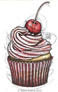Shirley Temple Cupcake - cosmalogie