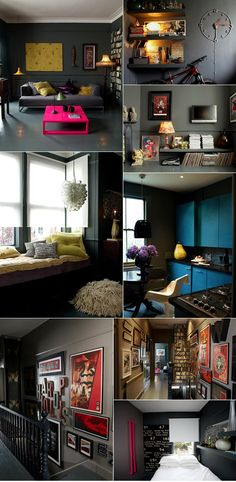 Dark and moody apartment.  Reference: Atelier Abigail Ahern /  Photos: Graham Atkins Hughes