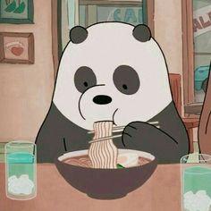 We bare bears panda eating noodles 🍝 Cartoon Profile Pics, Cartoon Profile Pictures, Cute Profile Pics, Tumblr Profile Pics, Cartoon Cartoon, Tumblr Cartoon, Cartoon Edits, Bear Wallpaper, Disney Wallpaper