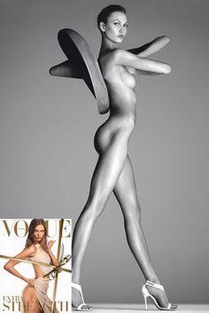 Una buena imagen es el resultado de una excelente actitud, en ocasiones la ropa no es lo mas importante.    Naked Campaign Pictures (Vogue.com UK)