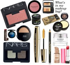 """What's in my makeup bag?"" by ebrungard ❤ liked on Polyvore"
