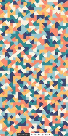 'Mira' Seamless Pattern by Russfuss #patterndesign #surfacepattern #fabricdesign #textiledesign #patternprint #geometry #iphonewallpaper #generative #padrões #cadernos #geometria #diseño