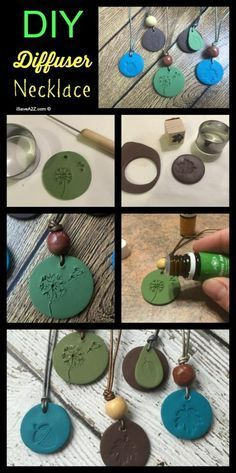 DIY Diffuser Necklace using Sculpey