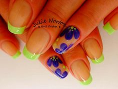 green, blue          use touches of polish, if needed.     donna
