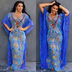 BAHAMAS kaftan is a show stopper and available in sizes S to 2XL!!! Shop now with promo code sep20 to receive 20% off of your entire order:  www.AsaKaftans.com  We ship worldwide!  Express shipping available. #luxe #asakaftans #kaftanlife
