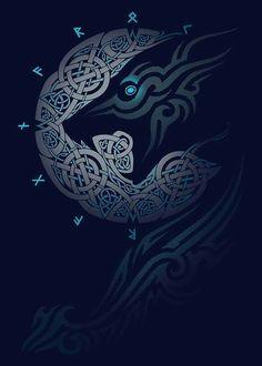 Vikings t shirt America Art Viking, Rune Viking, Viking Warrior, Norse Tattoo, Viking Tattoos, Celtic Patterns, Celtic Designs, Wolf Tattoos, Body Art Tattoos