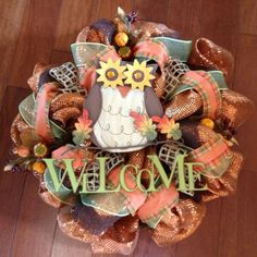 This looks like a truly awesome itemFall/Autumn Deco Poly Mesh Wreath Thanksgiving Mesh Wreath, Fall Mesh Wreaths, Fall Deco Mesh, Thanksgiving Decorations, Holiday Wreaths, Holiday Crafts, Wreath Fall, Fall Decorations, Wreath Crafts