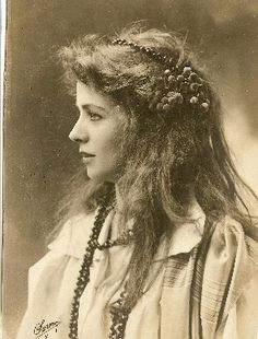 """Famed American stage actress Maude Adams, best known for her role as Peter Pan and as the inspiration for the character of Elise McKenna in """"Somewhere in Time""""."""