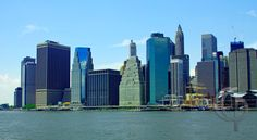 South Street Seaport Manhattan in foreground.