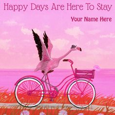 Have A Happy Days Ahead Wishes Card With Your Name
