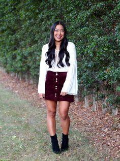 Fall Burgundy Skirt | Chelsea de Castro