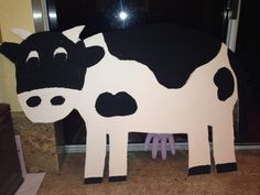 Made this cow for my dramatic play area during our Farm theme.