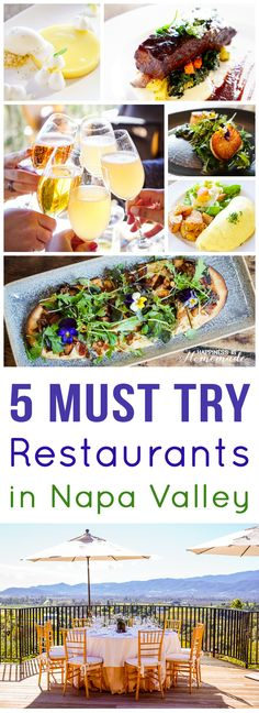 """5 Extraordinary Places to Eat in Napa Valley - the very best places to eat in Napa. These should ALL be on your """"Must Try"""" list! - Happiness is Homemade"""