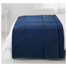 INDIRA çift kişilik yatak örtüsü mavi 250x250 cm | IKEA Ev Tekstili