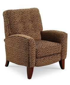 Love animal prints.  This kind of chair will make a great contrast in the den agains the brown pull up leather.