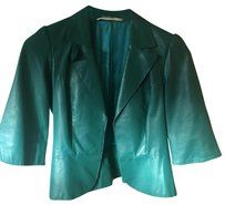 Twelfth St. by Cynthia Vincent Emerald Green Leather Jacket