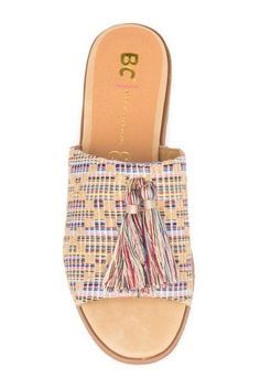 2e79f0783 Women s Florence Striped Bow Slide Sandals - Who What Wear™ Red 6 ...
