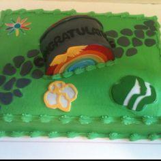 Girl Scout Bridging Cake