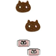 Cartoon Network Steven Universe Cookie Cat Earring Set ($6.37) ❤ liked on Polyvore featuring jewelry, earrings, steven universe, multi, cartoon network, cat earrings, cat jewelry and earring jewelry