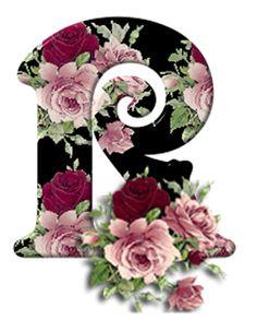 Alphabet Design, Cool Alphabet Letters, R Letter Design, Alphabet And Numbers, Letter Art, Floral Letters, Monogram Letters, Decoupage, Calligraphy Letters