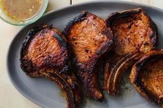 Best Grilled Pork Chops Recipe - How to Grill Honey Soy Pork Chops Best Pork Chop Marinade, Best Grilled Pork Chops, Baked Pork Chops, Grilled Meat, Venison Marinade, Bbq Pork Ribs, Pork Roast, Pork Rib Recipes, Meat Recipes