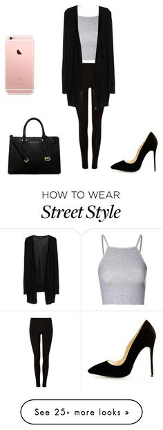 """""""Street Style"""" by osnapitzkerly on Polyvore featuring Glamorous, MANGO, Michael Kors, women's clothing, women's fashion, women, female, woman, misses and juniors"""