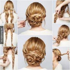 Hochsteckfrisuren Mit Locken Und Geflochten Hochsteckfrisuren Lange Haare Frisur Hochgesteckt Geflochtene Frisuren