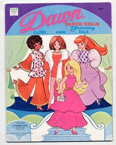 Vintage Whitman/Topper Dawn Paper Dolls  1971- these were my favorite paper dolls- I made my own clothes for them!