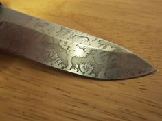 Acid Knife Etching - DIY Quick and easy way of making your knife look cool...