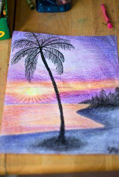 fa53a803b93bd2d8ad53d0250d0944a6  crayon drawings palm trees » How To Draw Crayons Easy