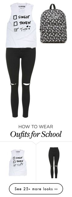 """""""Back to school"""" by kamilayussuf on Polyvore featuring Vans and Topshop"""