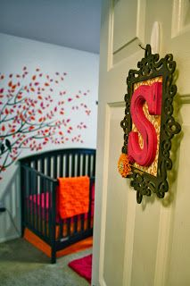 Hand made sign. Baby room.