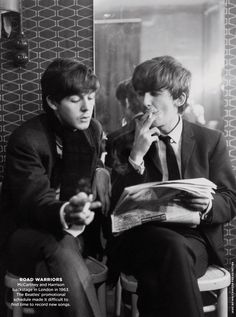 Paul and George read.