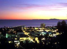 Ventura California, Channel Islands on horizon.