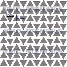 Triangles Stencil 8x8 by BlankSlateStencils on Etsy