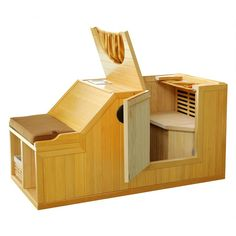 Radiant Saunas Goldstar 1 Person FAR Infrared Sauna Water Plumbing, Traditional Saunas, Country Style Furniture, Zen Room, Animal Room, Infrared Sauna, Decks And Porches, House Layouts, How To Relieve Stress
