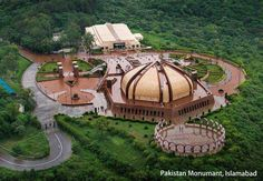 Aerial view of the Pakistan Monument, Islamabad