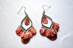 Lovely Violet Peruvian Chandelier Earrings - Peruvian Earrings, Long Earrings, Chandelier Earrings, Peruvian Jewelry