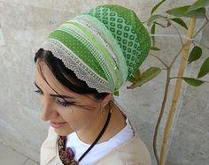 tichel, apron, head covering, headscarf, aprons, oshrat, headband, headcovering, hair snood,ON SALE