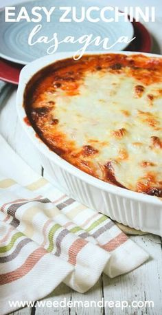 Ideas Recipes Easy Lasagna Ground Beef For 2019 Zuchinni Lasagna, Zucchini Lasagna Recipes, Easy Lasagna Recipe, Paleo Lasagna, Easy Zucchini Recipes, Bake Zucchini, Beef Recipes, Low Carb Recipes, Real Food Recipes