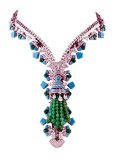 This amazing diamond zipper necklace like one commissioned by Wallis Simpson before she was the Duchess of Windsor will soon be on view at the Set in Style: The Jewelry of Van Cleef  Arpels exhibition at the Cooper-Hewitt, National Design Museum. Opens February 18th.