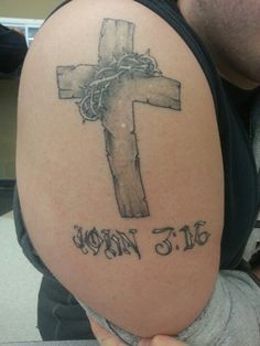 Crown Of Thorns With Cross Tattoo