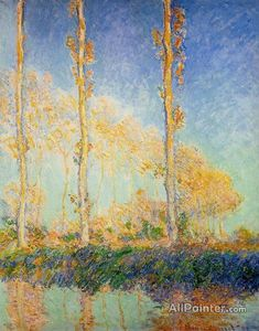 Claude Monet Three Poplar Trees In The Autumn oil painting reproductions for sale