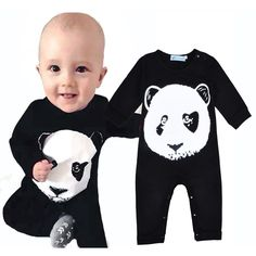 7e7a90716bd Aliexpress.com   Buy 2017 Panda Baby Rompers cartoon animal Nerborn romper  Panda baby girl clothes new Baby Boy Romper high quality nascido menino  from ...