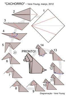 Simple Origami Dog
