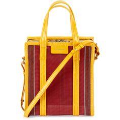 Balenciaga Bazar AJ Shopper Tote Bag ($1,135) ❤ liked on Polyvore featuring bags, handbags, tote bags, handbags totes, multi, shopper tote, tote purses, tote handbags, mesh tote and shopping bag
