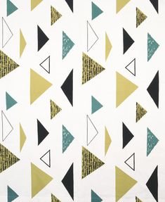 'Isosceles' furnishing fabric by Lucienne Day, 1955