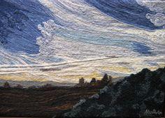Cielo en Azules No. 1 Marta Alarcón  Collage en Lana